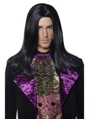 36315 - Gothic Count Wig, Black