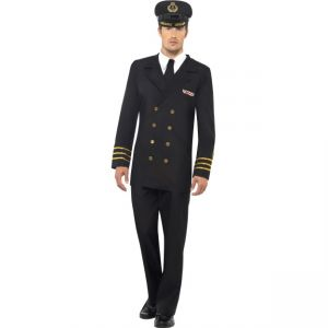38818 - Navy Officer Costume, Male, Black