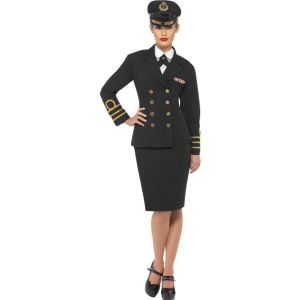 38819 - Navy Officer Costume Female, Black