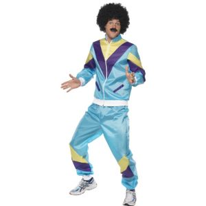 39298 - 80\'S Height Of Fashion Shell Suit Costume, Blue