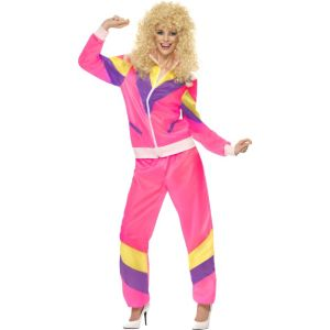 39660 - 80\'S Height Of Fashion Shell Suit Costume, Pink