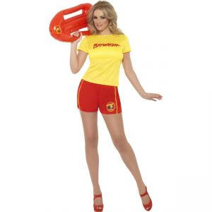 Baywatch Beach Costume, With Top and Shorts