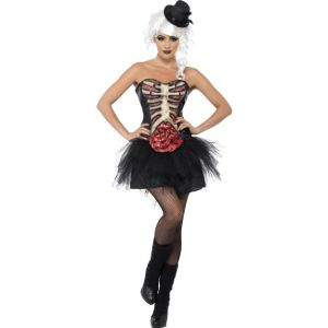 41029 - Grotesque Burlesque Corset, Black, With Latex Ribcage And Intestine