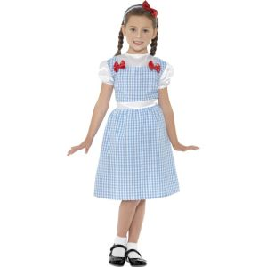 41102 - Country Girl Costume, Blue, Dress, Shoecovers And Headband
