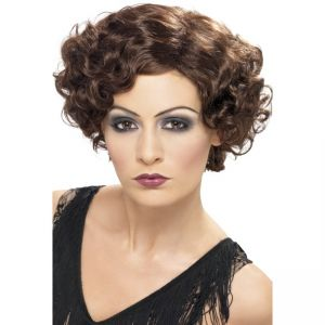 42004 - 20\'S Flirty Flapper Wig,Brown