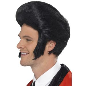 42010 - 50\'S Quiff King Wig,Black