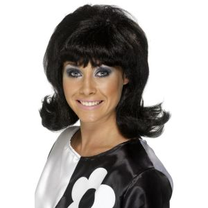 42013 - 60\'S Flick-Up Wig,Black