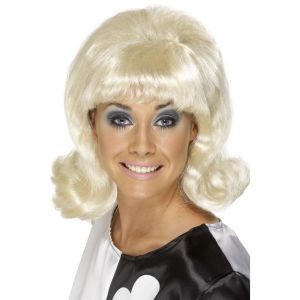 42014 - 60\'S Flick-Up Wig,Blonde