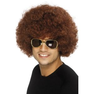 42016 - 70\'S Funky Afro Wig,Brown