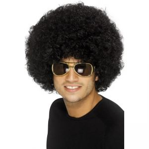 42017 - 70\'S Funky Afro Wig,Black