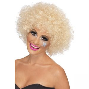 42018 - 70\'S Funky Afro Wig,Blonde