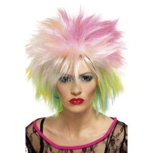 42023 - 80\'S Attitude Wig,Multi-Coloured