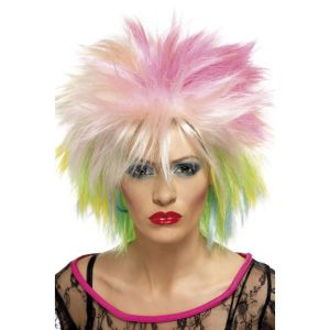 42023 - 80\'S Attitude Wig,Multi-Coloured