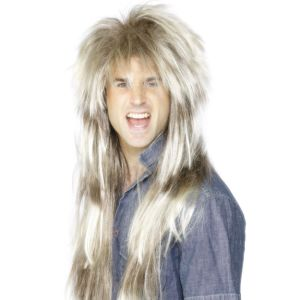 42030 - 80\'S Mega Mullet Wig, Blonde And Brown