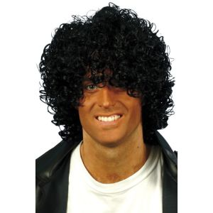 42032 - Afro Wet Look Wig,Black