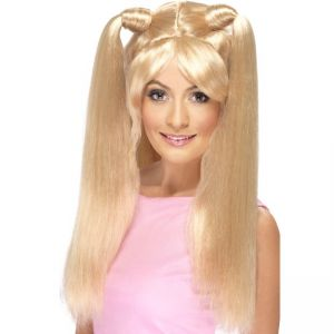 42057 - Baby Power Wig, Blonde, With Pony Tails