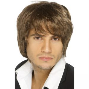 42069 - Boy Band Wig, Brown