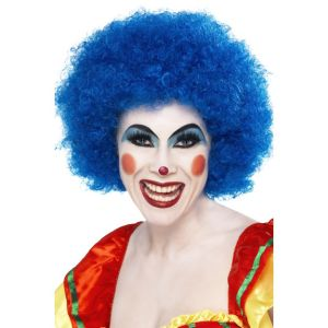 42083 - Crazy Clown Wig,Blue