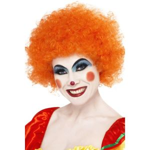 42085 - Crazy Clown Wig, Orange
