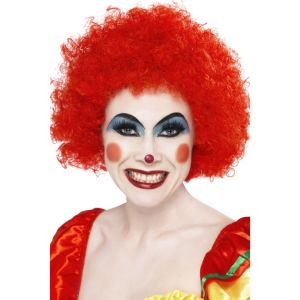 42089 - Crazy Clown Wig,Red