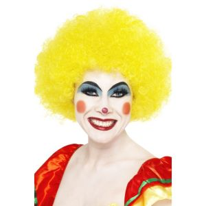 42090 - Crazy Clown Wig,Yellow
