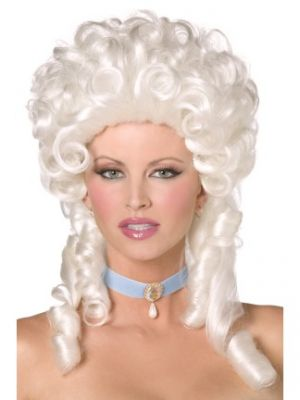42122 - Baroque Wig, White