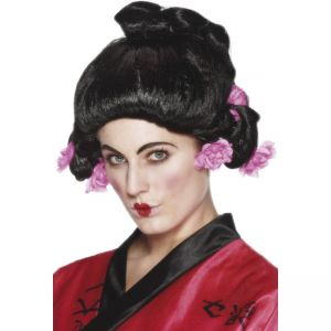 42129 - Geisha Girl Wig,Black