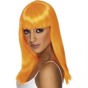 42160 - Glamourama Wig ,Neon Orange