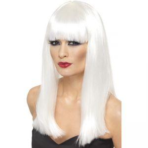 42165 - Glamourama Wig ,White