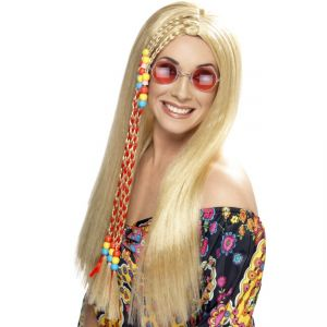 42184 - Hippy Party Wig,Blonde