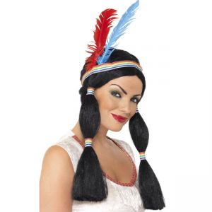 42190 - Indian Princess Wig ,Black