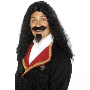 42212 - Musketeer Wig,Black