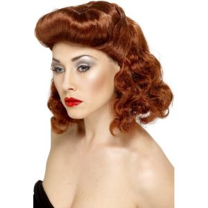 42223 - Pin Up Girl Wig ,Auburn