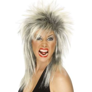 42239 - Rock Diva Wig ,Two Tone