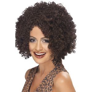 42246 - Scary Power Wig ,Brown