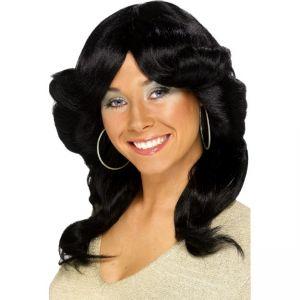 42250 - 70\'S Flick Wig,Black