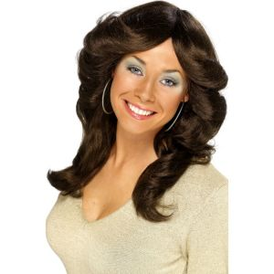 42252 - 70\'S Flick Wig,Brown