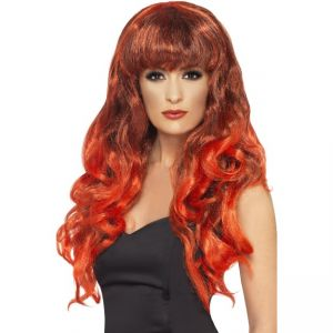 42267 - Siren Wig Red Black