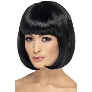 42389 - Partyrama Wig, 12 Inch,Black