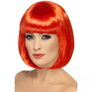 42390 - Partyrama Wig, 12 Inch,Red