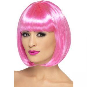 42392 - Partyrama Wig, 12 Inch,Pink