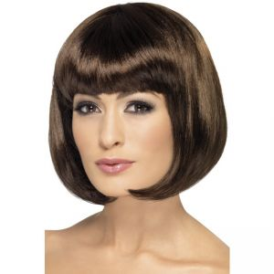 42394 - Partyrama Wig, 12 Inch,Dark Brown