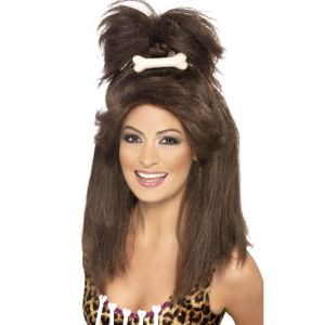 42446 - Crazy Cavewoman Wig,Brown