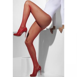 42727 - Fishnet Tights, Red