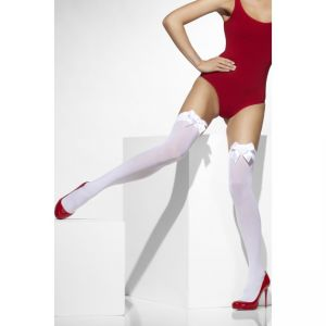42753 - Opaque Hold-Ups, White, With White Bows