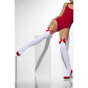 42759 - Opaque Hold-Ups, White, With Red Bows