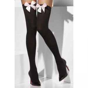 42763 - Opaque Hold-Ups, Black, With Bows