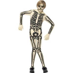 43026 - Skeleton Second Skin Costume, With Printed Jumpsuit