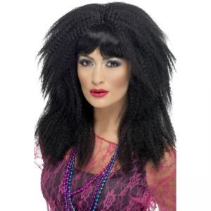 43205 - 80\'S Trademark Crimp Wig,Black