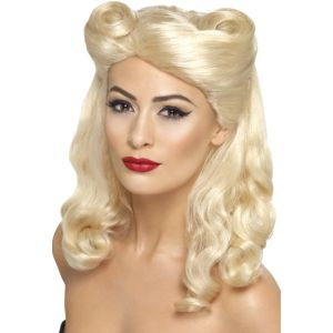 43215 - 40\'S Pin Up Wig, Blonde,Blonde